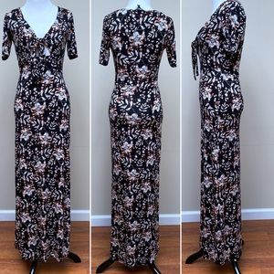 Express knit jersey maxi dress size xs